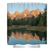 The Grand Tetons Schwabacher Landing Grand Teton National Park Shower Curtain