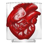 The Human Heart Shower Curtain
