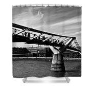 The Millenium Bridge Shower Curtain