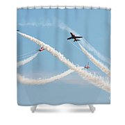 The Red Arrows Eastbourne Shower Curtain