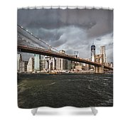 The Storm Over Manhattan Shower Curtain