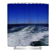 The Wake Of The Island Queen Shower Curtain