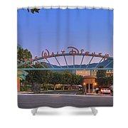 The Walt Disney Company In Burbank Ca. Sunset Shower Curtain