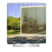 Third Methodist Church On The Commons In Little Compton Rhode Island Shower Curtain