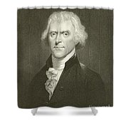 Thomas Jefferson Shower Curtain by English School