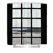 Through An Old Window Shower Curtain