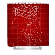 Thumb Wrestling Game Patent 1991 - Red Shower Curtain