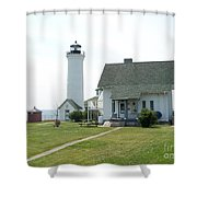 Tibbetts Point Light Shower Curtain by Kevin Croitz