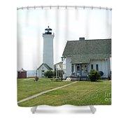 Tibbetts Point Light Shower Curtain