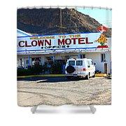 Tonopah Nevada - Clown Motel Shower Curtain
