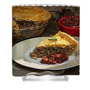Tourtiere Meat Pie Shower Curtain