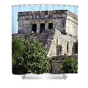 Tulum Ruins Mexico Shower Curtain