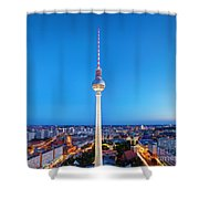 Tv Tower Or Fersehturm In Berlin Shower Curtain
