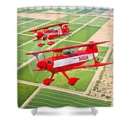 Two Pitts Special S-2a Aerobatic Shower Curtain