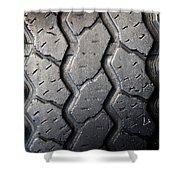 Tyre Tread Shower Curtain