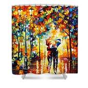 Under One Umbrella Shower Curtain by Leonid Afremov