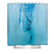 Underwater Crevasse In Thick Layer Of Floating Ice Shower Curtain