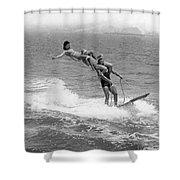Aquaplaning Trio Falls Shower Curtain