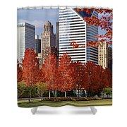 Usa, Illinois, Chicago, Millennium Shower Curtain