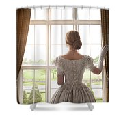 Victorian Woman At A Window Shower Curtain