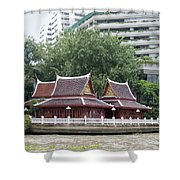 View From Chao Phraya River In Bangkok Shower Curtain