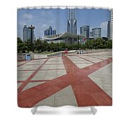 View From Peoples Park, Shanghai Shower Curtain