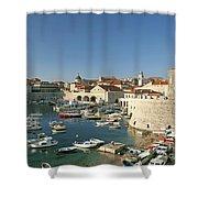 View Of Dubrovnik In Croatia Shower Curtain