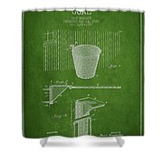 Vintage Basketball Goal Patent From 1925 Shower Curtain