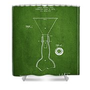 Vintage Bottle Neck Patent From 1891 Shower Curtain