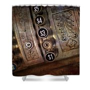 Vintage Metal Cash Register Shower Curtain