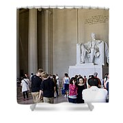 Visitors At The Lincoln Memorial Shower Curtain