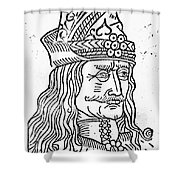 Vlad IIi (1431-1477) Shower Curtain