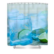 Water In Blue Shower Curtain