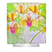 Laughing Watercolor Photography Shower Curtain