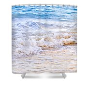 Waves Breaking On Tropical Shore Shower Curtain