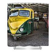 3 Wheeler Truck Shower Curtain