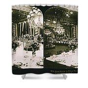 White House State Dinner Shower Curtain