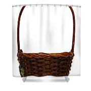 Wicker Basket Number Ten Shower Curtain