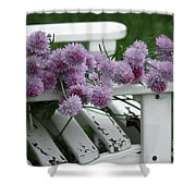 Wild Onion Flowers Shower Curtain