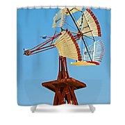 Wind Mills In West Texas Shower Curtain