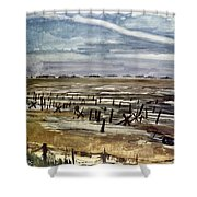 World War II: Normandy Shower Curtain