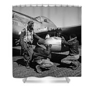 Wwii: Tuskegee Airmen, 1945 Shower Curtain by Granger