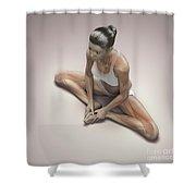 Yoga Bound Angle Pose Shower Curtain