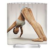 Yoga Downward Facing Dog Pose Shower Curtain
