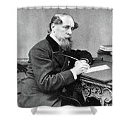 Charles Dickens (1812-1870) Shower Curtain