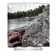 The Long Winter Begins Shower Curtain