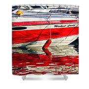 Lyme Regis Harbour Shower Curtain