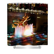 30 Rock Fountain Shower Curtain