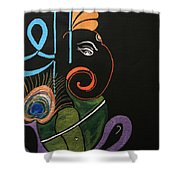 30 Vignaharta Ganesh Shower Curtain