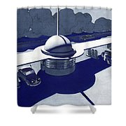 Roadside Of Tomorrow Shower Curtain by Robert Poole